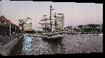 Toiles imprimées Photo d'un bateau à voile à quai à Buenos Aire en Argentine