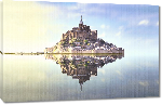 Toiles imprimées Photo du Mont Saint Michel miroir
