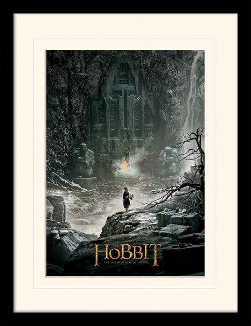 Affiche Encadr E Du Film Le Hobbit La D Solation De Smaug Acheter Affiche Encadr E Du Film