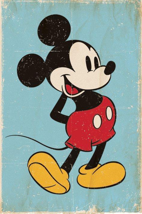 Poster De Mickey Mouse Retro Acheter Poster De Mickey Mouse