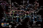 Poster du plan du métro de Londres