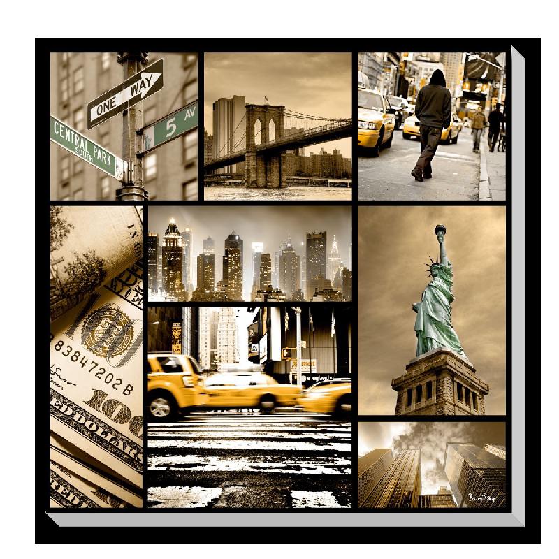 toile mosa que de new york acheter toile mosa que de new york 6280 affiches et. Black Bedroom Furniture Sets. Home Design Ideas