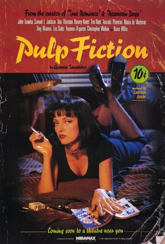 AFFICHE FILM 69x102 cm PULP FICTION
