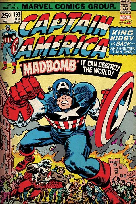 Captain america 2 retro poster
