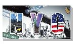 Tableau imprimée sur toile Design New-York City
