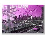 Tableau imprimée sur toileDesign NY Brooklyn Rose