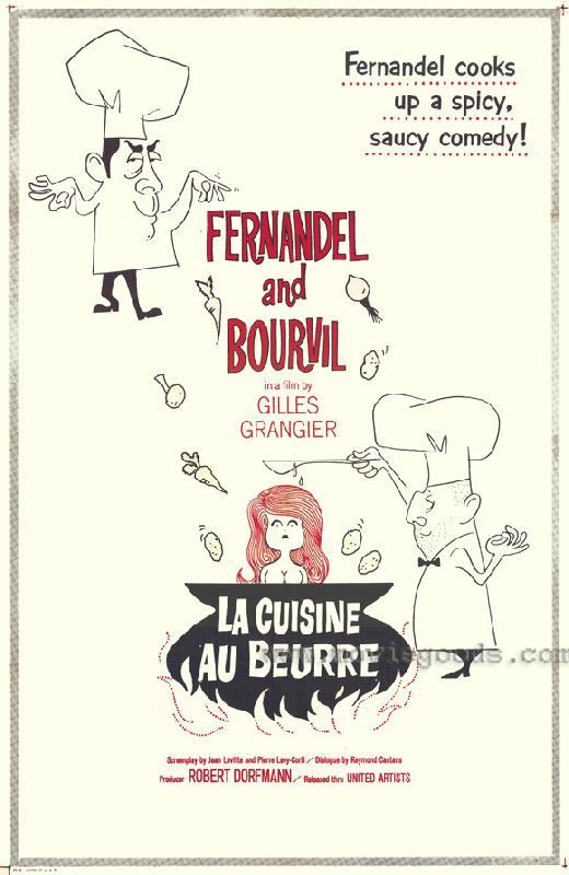 affiche du film la cuisine au beurre acheter affiche du film la cuisine au beurre 6559. Black Bedroom Furniture Sets. Home Design Ideas