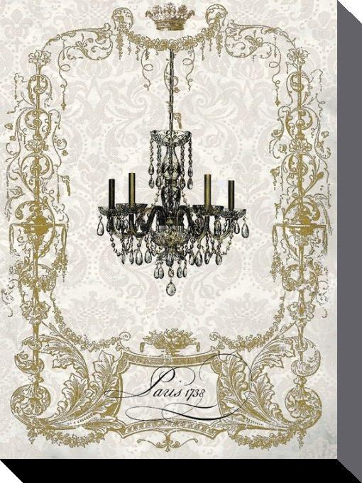 affiches posters toile de wendy paula patterson chandelier parisien. Black Bedroom Furniture Sets. Home Design Ideas