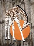 Affiche d'art de Mosko et Associés Girafe soleil couchant