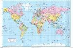 Affiche de la carte du monde francophone