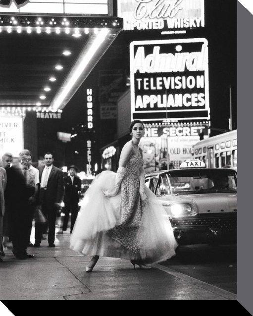 affiches posters photo sur toile new york en 1960 en noir et blanc. Black Bedroom Furniture Sets. Home Design Ideas