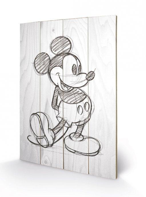 Tableau Mickey Noir Et Blanc