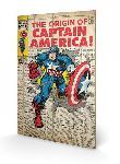 Impression sur bois Captain America