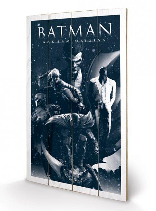 affiches posters impression sur bois de batman arkham. Black Bedroom Furniture Sets. Home Design Ideas