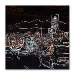Tableau photo sous plexiglass représentant trafic au USA
