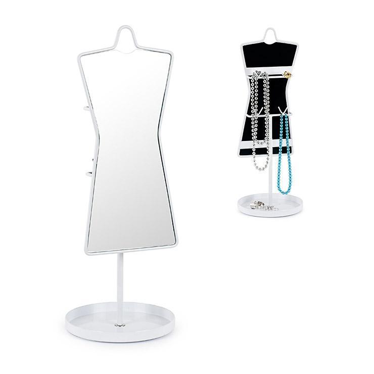 miroir de table et porte bijoux en m tal sissi acheter. Black Bedroom Furniture Sets. Home Design Ideas