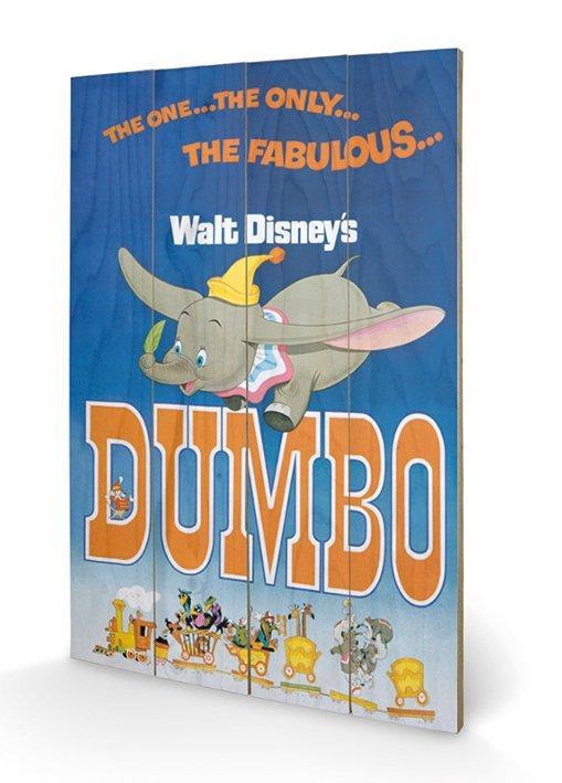 affiches posters impression sur bois du dessin anim dumbo. Black Bedroom Furniture Sets. Home Design Ideas
