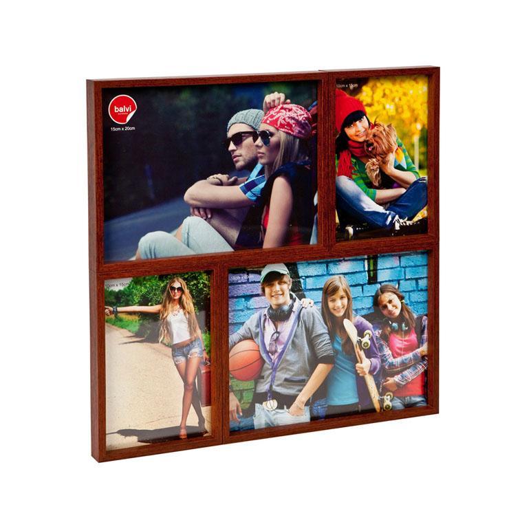cadre mosaique p le m le en bois couleur noyer fonc acheter cadre mosaique p le m le en bois. Black Bedroom Furniture Sets. Home Design Ideas