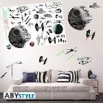 Assortiment de Stickers Star Wars bataille spatiale