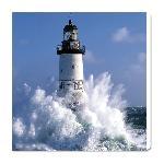 Toile imprimée du phare d'Ar-Men - Finistère - Bretagne