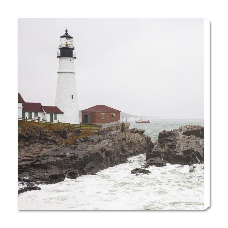 toile imprim e le phare de portland maine usa acheter toile imprim e le phare de portland. Black Bedroom Furniture Sets. Home Design Ideas