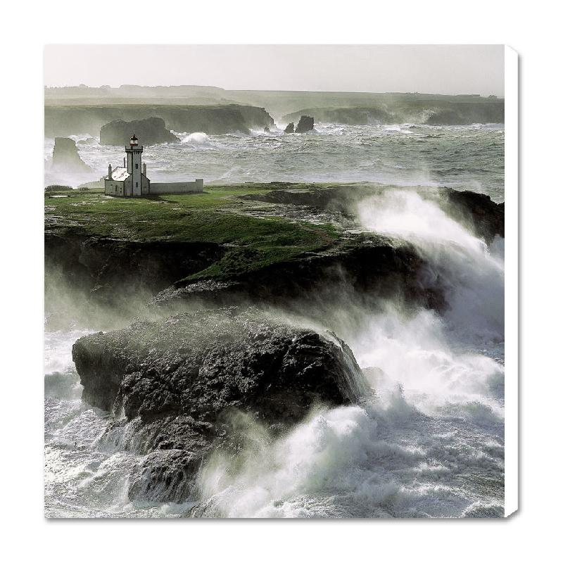 toile imprim e le phare de la pointe des poulains belle ile morbihan bretagne acheter. Black Bedroom Furniture Sets. Home Design Ideas
