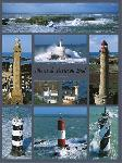 Poster photo montage Phares de Bretagne Sud