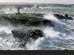 Poster photo horizontal Avis de coup de vent sur les Poulains - Belle-ile - Morbihan - Bretagne