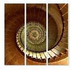 Tableau en toile tryptique L'escalier du phare des Baleines