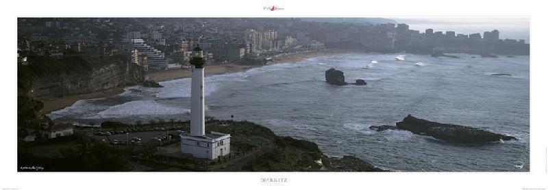 poster photo panoramique le phare de la pointe st martin 224 biarritz acheter poster photo