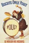 Affiche publicitaire des Biscuits Emile Poult