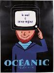 Affiche publicitaire Oceanic Télévision