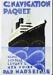 Affiche publicitaire Croisières Paquet