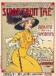 Affiche publicitaire Sirop Fruit Thé