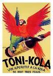 Affiche ancienne du Vin Toni Kola
