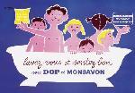 Affiche vintage du Savon Dop et Monsavon