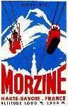 Affiche publicitaire de Morzine