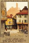 Affiche ancienne de St Céré (Lot)