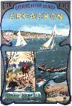 Affiche vintage du Bassin d'Arcachon