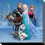 Toile imprimée du film animé La Reine des neiges