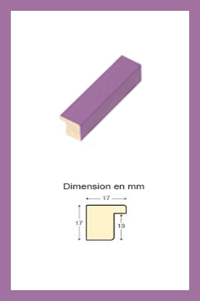 Cadre en bois violet