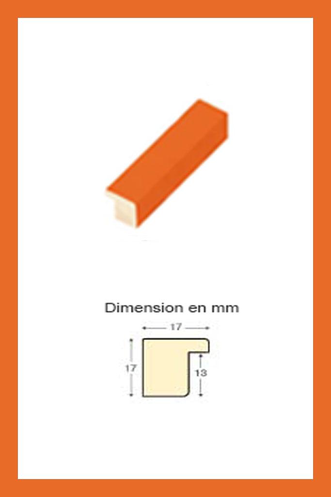 Cadre en bois Orange