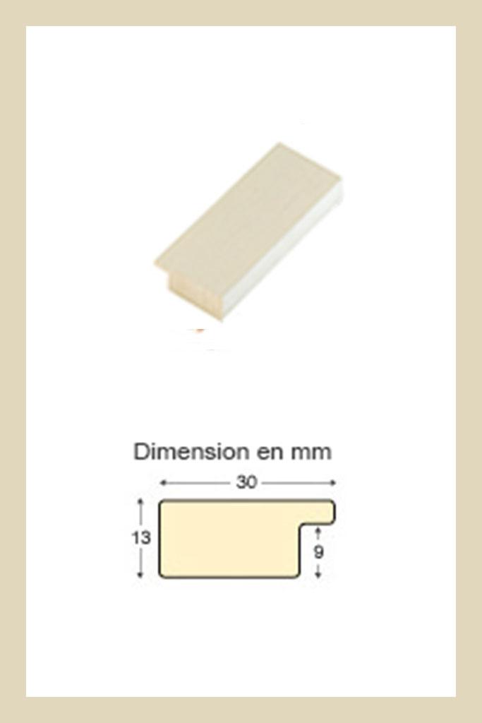 Cadre en bois couleur crème