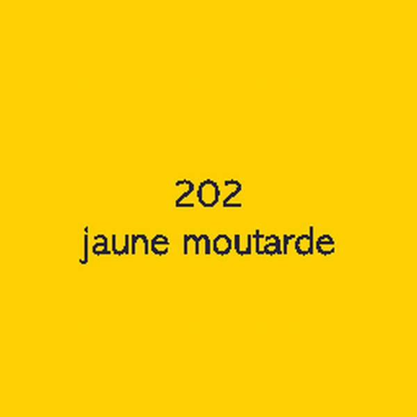 Sticker autocollant film polymère jaune moutarde brillant