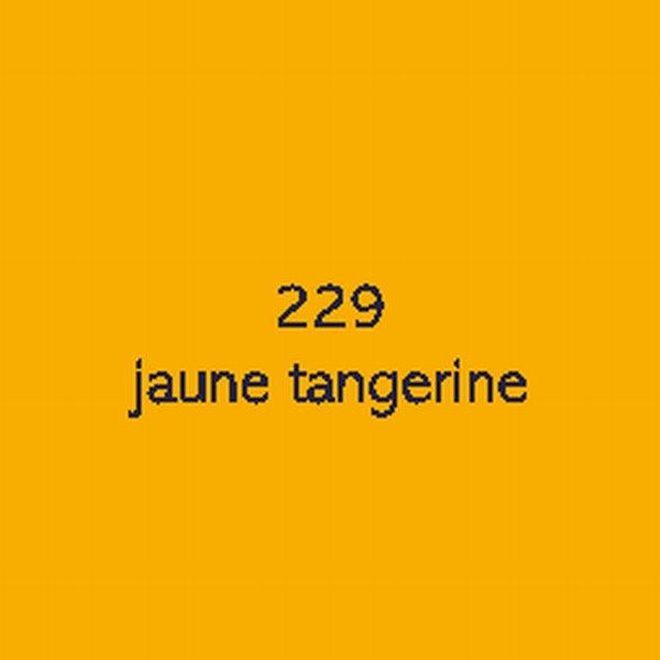 Sticker autocollant film polymère jaune tangerine brillant