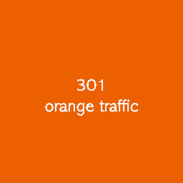 Sticker autocollant film polymère orange traffic brillant