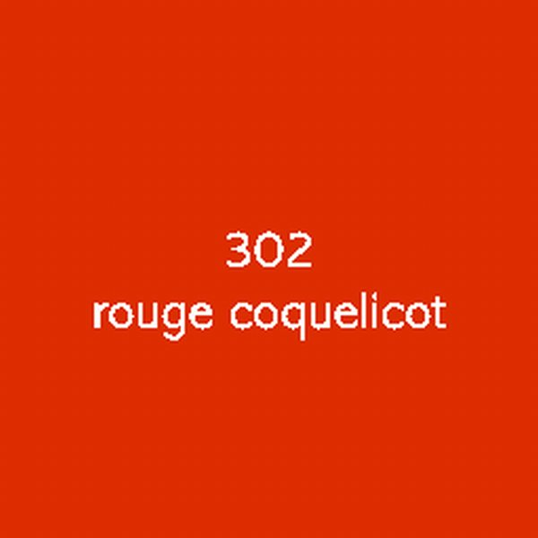 Sticker autocollant film polymère rouge coquelicot brillant
