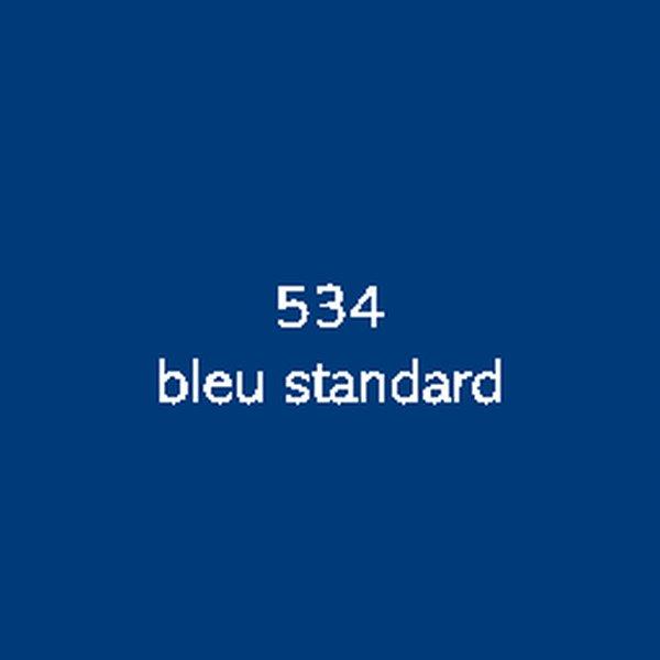 Sticker autocollant film polymère bleu standard brillant
