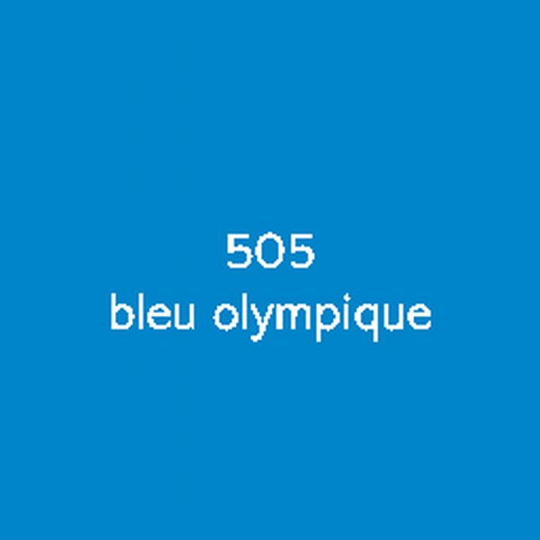 Sticker autocollant film polymère bleu olympique brillant