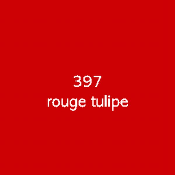 Sticker autocollant film polymère rouge tulipe brillant